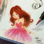Pink Princess by angelaaasketches
