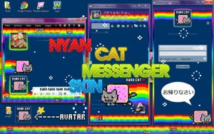 Nyan Cat Messenger Skin by Thoxiic-Editions