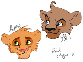 Tulio and Miguel as Cubs by SickRogue