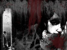 Blood rain -vampire wallpaper- by cels-