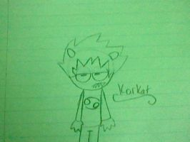 Karkat is not pleased with my drawing skills by Dib-the-survivor