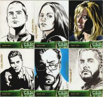 CSI Sketch Cards by ryanorosco