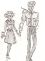Anthy and Akio by evilseedlet
