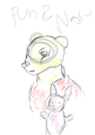 Pooh and Piglet rough sketch by Varjokani
