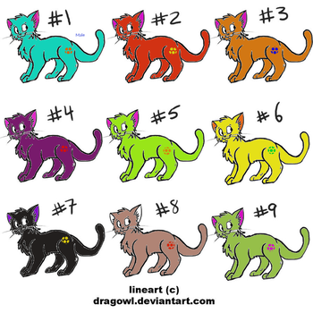 Cat Adoptables 2 points each by tangleismysenpai
