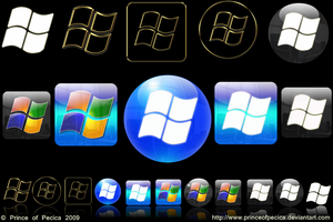 Windows 7 logo set by PRINCEofPECICA