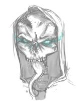 Skull Sketch 9.27.11 by AwesomeSauce2031