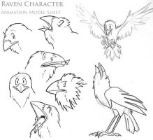 Raven Animation Sheet by raven-amos