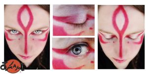 Okami Amaterasu make-up test by Totally-worthless