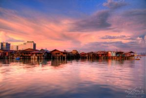 Sunset of Tan Jetty, Penang 3 by fighteden