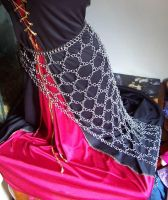 Chain maille web dress by hwkwlf