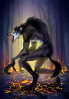 Werewolf from hell by EmiliaPaw5