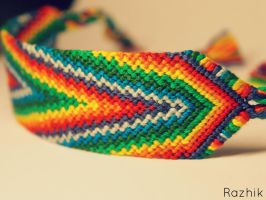 Rainbow Friendship Bracelet by Razhik