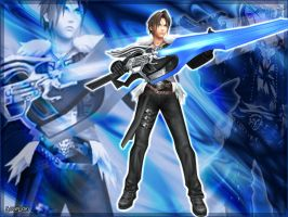 Squall DISSIDIA Blue by LoveLoki