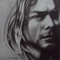 kurt cobain by iridah