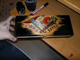 hold fast on wood box by ShellyZTrueheartInk