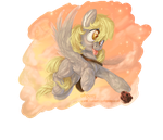 Derpy muffin skydiving+speedpaint by Obpony