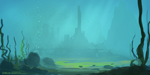 Underwater Castle by ehecod