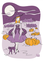 Pumpkin Patch Witch by LaFoi