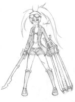 BRS Steam Punk Ver. (Rough Sketch) by kevz10