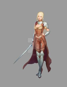 Female Medieval Warrior by bmd247