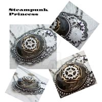 Steampunk Princess Necklace by JewelledTrellis