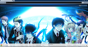 Ao No Exorcist Google Chrome Theme by GoogleChromeThemes