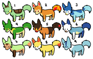 Pokemon Fox Adoptables - 5 points - p.2 by xRainbow-adoptsx