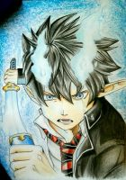 Rin Okumura - Ao no Exorcist  by AjkaSketch
