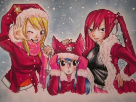 Fairy Tail's Seasons Greetings! by whitetigerclaws