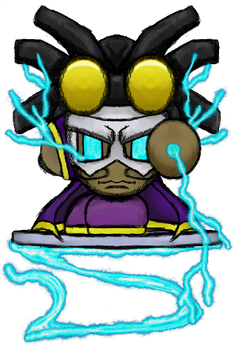 Static Shock Kirby by dragonfire53511