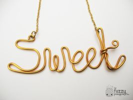 Sweet Wire Necklace by TheFuzzyPineapple