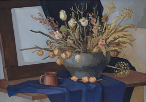 Still life with dried flowers by dragon--of--fate