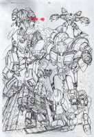 Robotech Cover Pencils by glane21