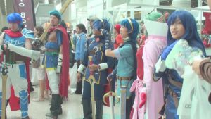 Ike, Ike, Marth, Marth,Tiki and Lucina at AX 2013 by trivto