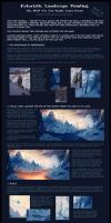 Futuristic Landscape Painting - Step By Step Part2 by Zanariya
