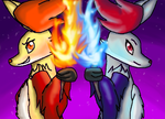 The Delphox Sisters by DragonGirl2418