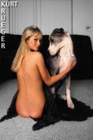 A Girl And Her Dog by KurtKrueger