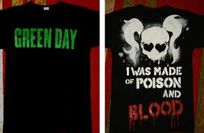 Green Day shirt - handmade by leomessi111