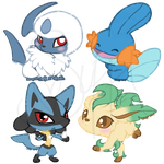 Pokecon Stickers: 3 by CoffeeCupPup