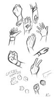 Quick Sketch: Hands by Gimron