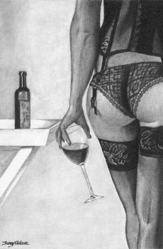 fine wine by DrawingsByTony
