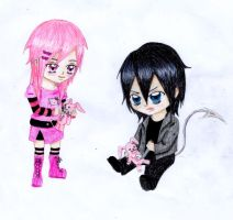 vergo and Hades chibi or kids by chibiusa1001
