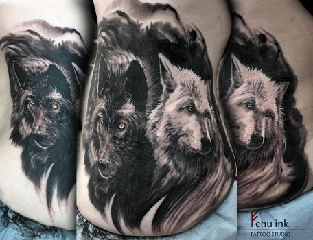 Wolfs tattoo by ellegottzi