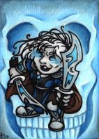 Commish - Seral art card by rachelillustrates