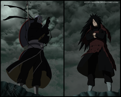 Uchiha Madara vs Tobi by Luisseb