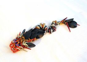 SOLD - New 'Twisting-Tail' Dragon - Flame by SerenFey