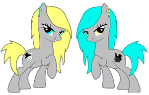 New Twin OC's - Alice and Malice by iPandacakes