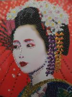 Pinned Geisha Girl by becksbeck