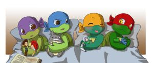 TMNT+TS: Boys and their toys by NamiAngel